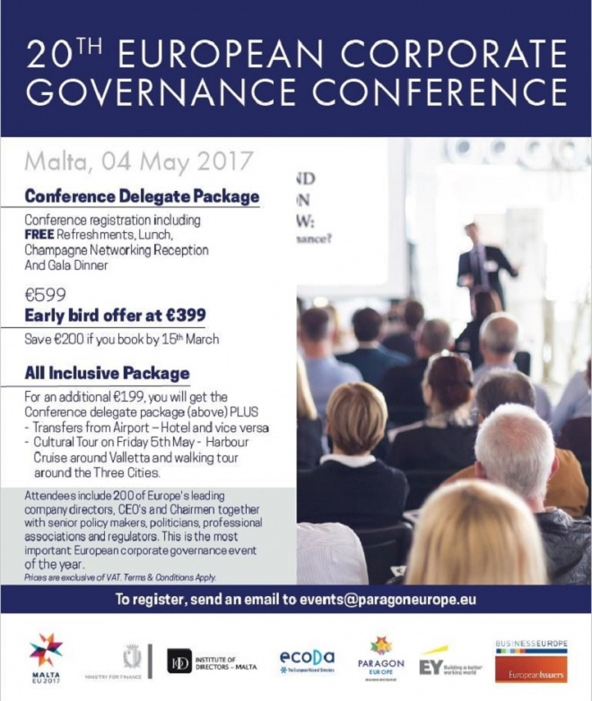 20th European Corporate Governance Conference